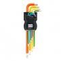 INBUS 70266 - Juego de llaves Allen Código de colores
